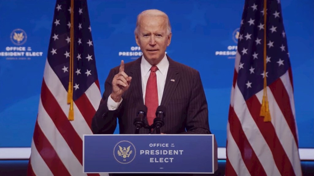 Secretario de Defensa de EE.UU. niega obstáculos al equipo de Joe Biden - Joe Biden. Foto de EFE/ EPA/ OFFICE OF THE PRESIDENT ELECT.