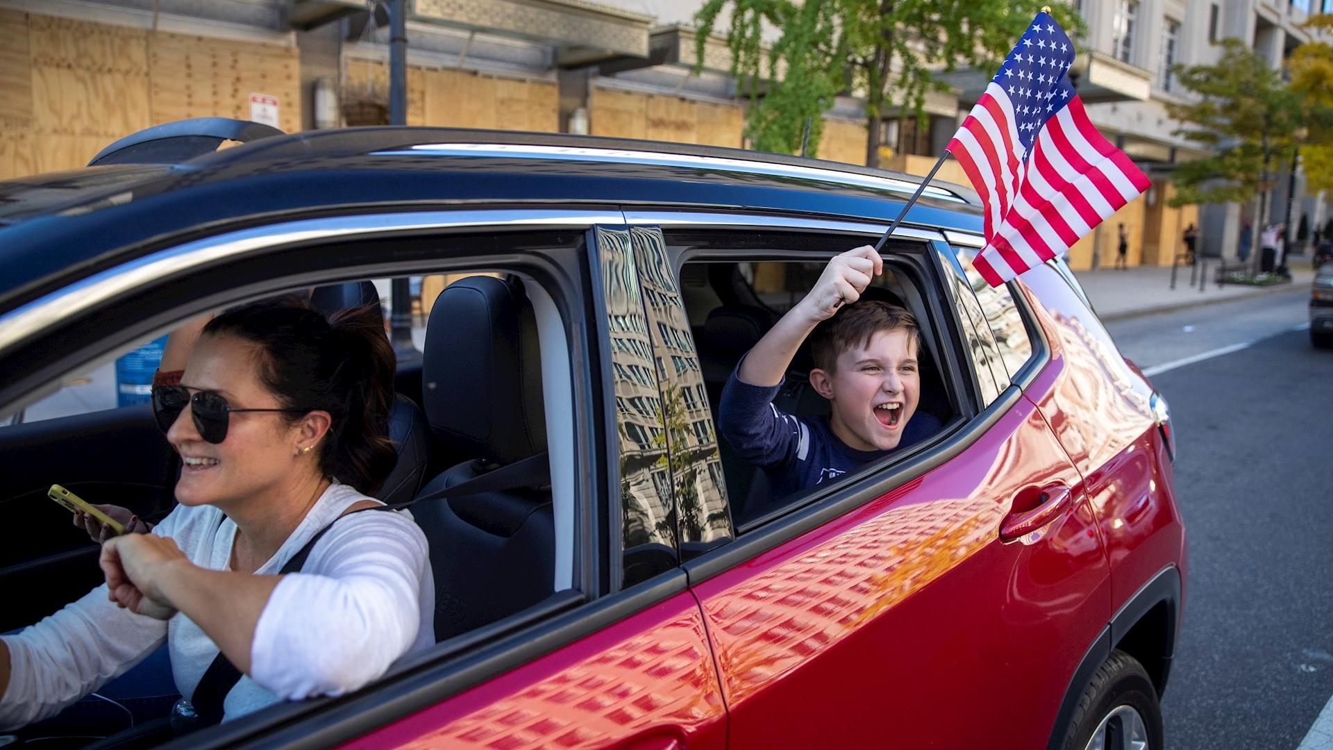 Joe Biden celebración Washington triunfo 5