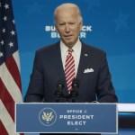 """Biden urge más apoyo fiscal para """"una recuperación para todos"""" - Joe Biden durante conferencia de prensa. Captura de pantalla"""