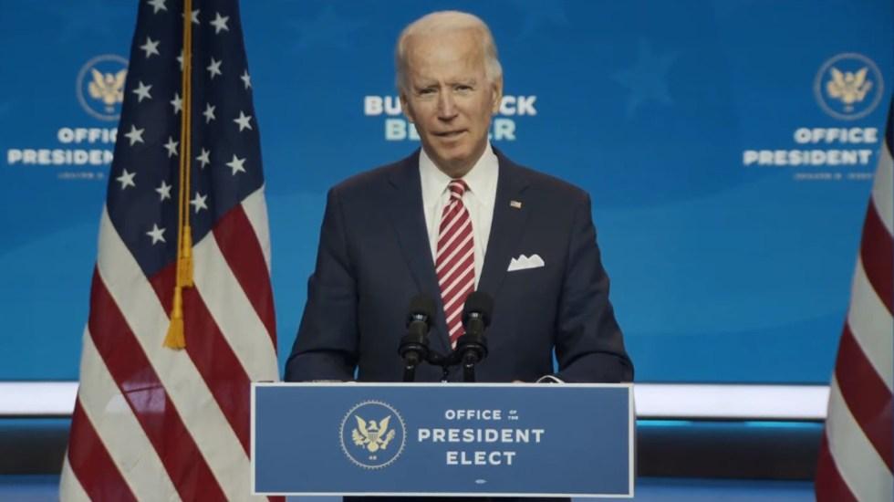 """Joe Biden: """"Morirá más gente"""" por COVID-19 si Trump no coopera con él - Joe Biden durante conferencia de prensa. Captura de pantalla"""