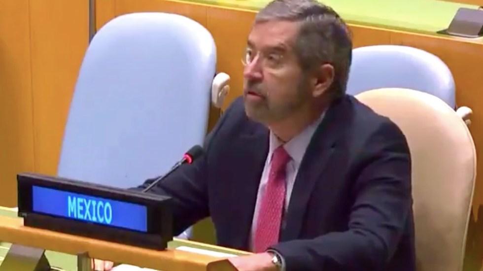 México rechaza derecho al veto en el Consejo de Seguridad por oponerse al principio de igualdad jurídica entre Estados: De la Fuente - Captura de pantalla