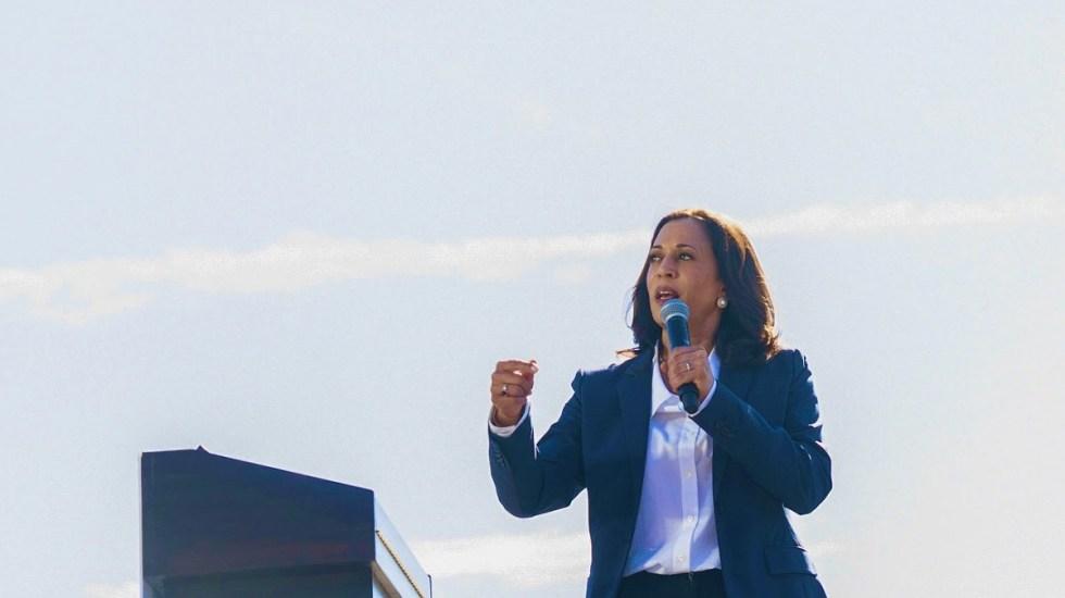 """""""Tenemos mucho trabajo por delante, empecemos"""", afirma Kamala Harris tras victoria - Kamala Harris durante mitin. Foto de @KamalaHarris"""