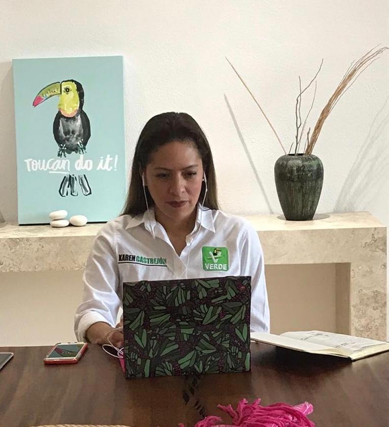 Pese a alianzas, el Partido Verde tiene identidad propia: Karen Castrejón. Noticias en tiempo real