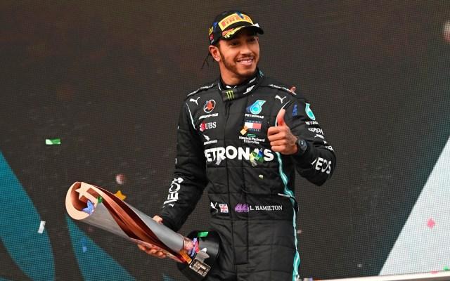 Hamilton iguala récord histórico de siete mundiales de F1 con GP de Turquía - Lewis Hamilton al ganar séptimo mundial de F1. Foto de EFE