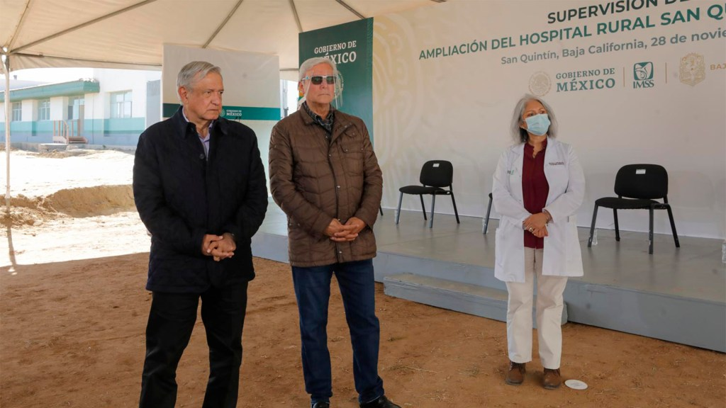 Gobierno ya no está secuestrado por una minoría, dice López Obrador - El presidente López Obrador en San Quintín. Foto de Presidencia.