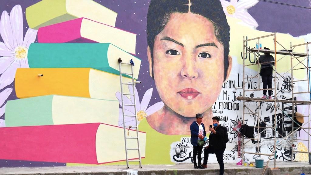 Mural dedicado a víctima de feminicidio busca transformar dolor en dignidad en Chimalhuacán - Foto de EFE