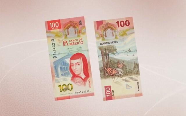 Peso llega a su mejor nivel desde marzo; dólar se cotiza en 19.79 pesos con tendencia a la baja - Nuevo billete de 100 pesos con Sor Juana Inés de la Cruz. Captura de pantalla