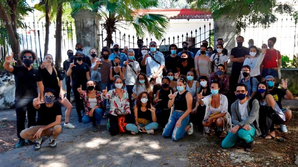 Opositores en Cuba débiles pero arropados por artistas tras golpe de las autoridades - Opositores cubanos en huelga de hambre, débiles pero arropados tras el golpe. Foto EFE