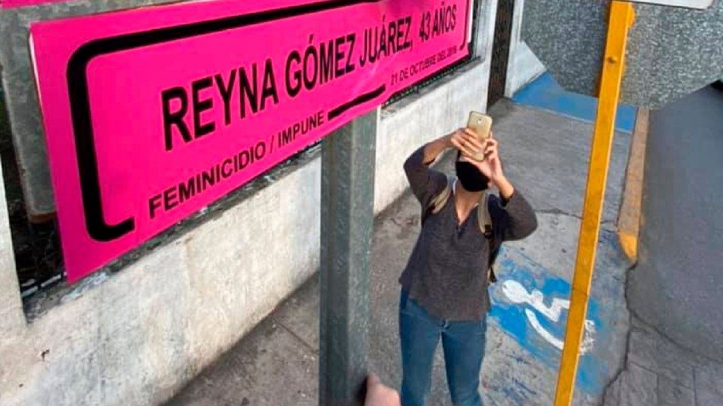 Renombran calles en Tamaulipas para recordar a víctimas de feminicidio - Renombran colectivos calles en Tamaulipas para recordar a mujeres víctimas de feminicidios. Foto Facebook Colectiva Feminista Mujer Manglar