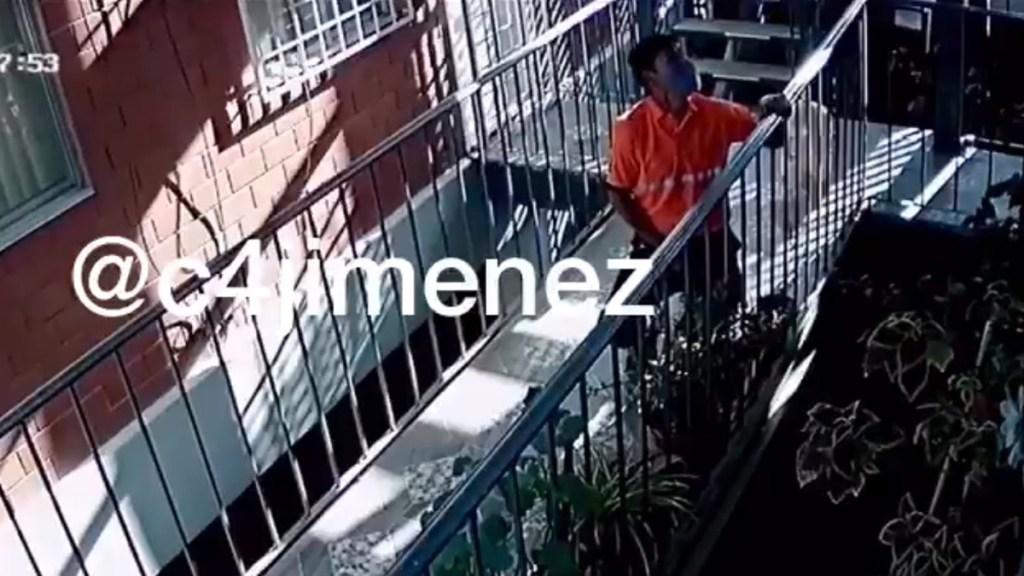 #Video Orina repartidor de agua plantas de vecinos en la GAM - Repartidor de agua orina en plantas. Captura de pantalla / c4jimenez