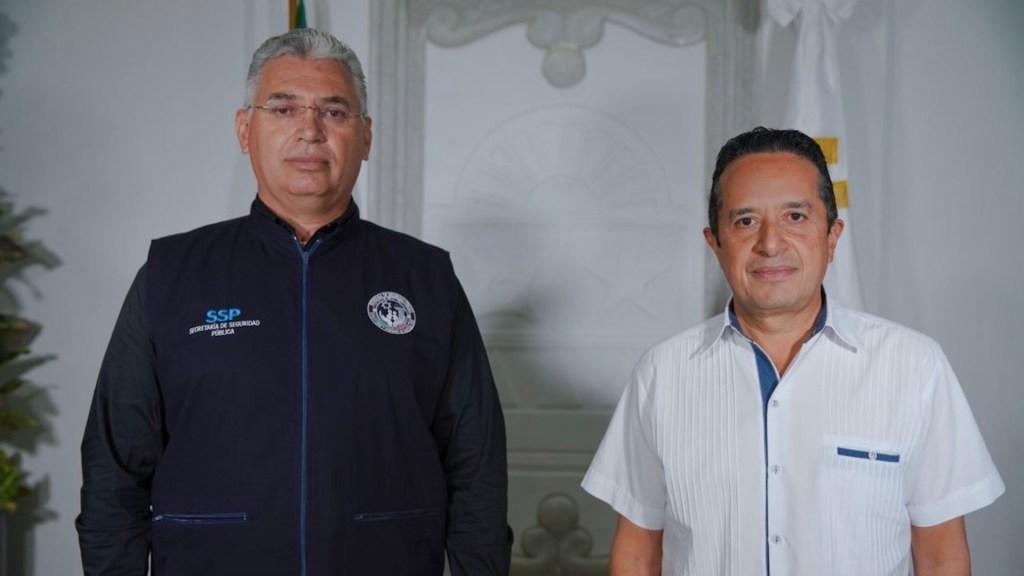 Designan a Lucio Hernández Gutiérrez como encargado de despacho de la SSP de Quintana Roo - Foto de Twitter Carlos Joaquín