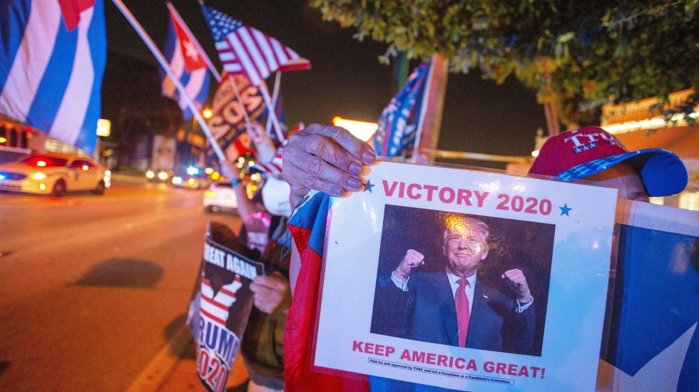 Donald Trump gana Florida y suma 29 votos más en Colegio Electoral - Simpatizantes demuestran su apoyo a Donald Trump en Florida. Foto de EFE