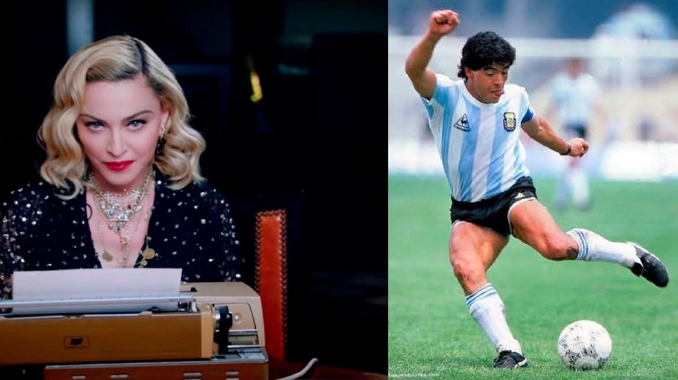 Usuarios confunden a Madonna con Maradona y la vuelven tendencia en Twitter - Usuarios en Twitter confunden a Madonna con Maradona y la vuelven tendencia. Foto especial