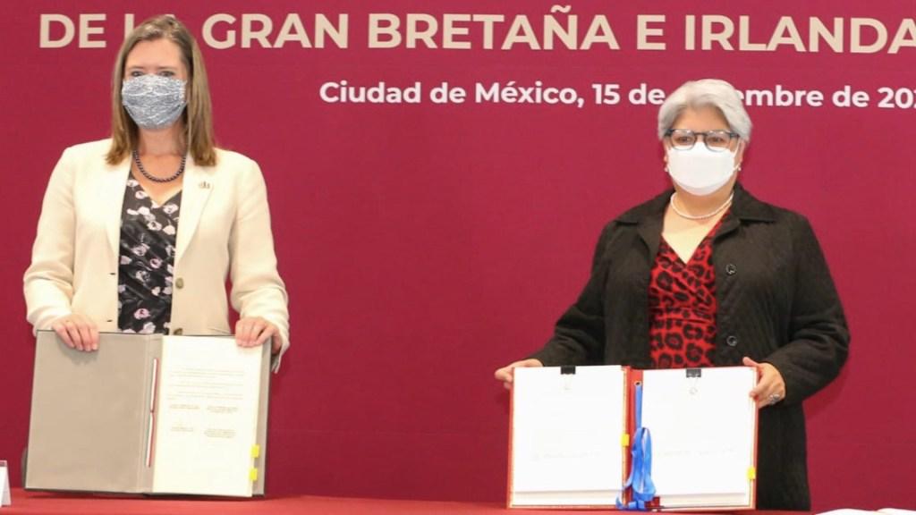 México y Reino Unido firman nuevo acuerdo de libre comercio tras el Brexit - Foto de Twitter Graciela Márquez Colín