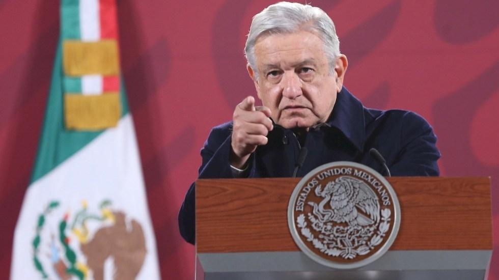 AMLO prevé ser vacunado a finales de febrero con dosis de CanSino - El presidente de México, Andrés Manuel López Obrador, en rueda de prensa matutina hoy, desde el Palacio Nacional. Foto de EFE/ Sáshenka Gutiérrez.