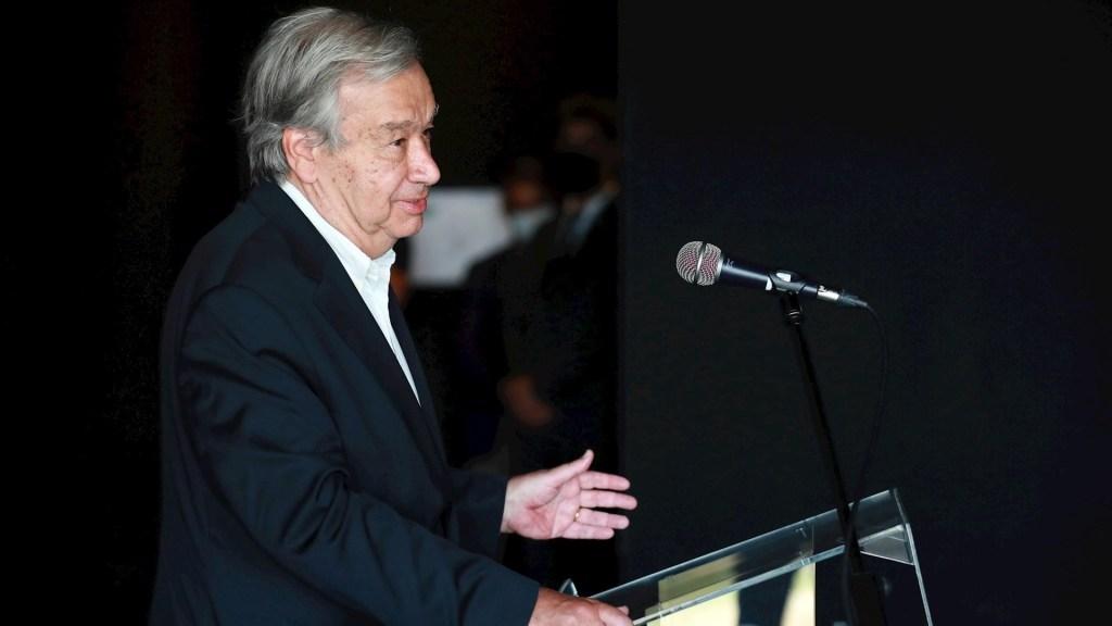 ONU pide declarar emergencia climática hasta lograr la carbono neutralidad - António Guterres, secretario general de la ONU. Foto de EFE/EPA/ESTELA SILVA/Archivo.