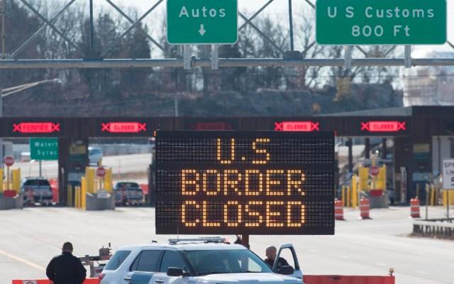 Canadá mantendrá cerrada su frontera terrestre con EE.UU. hasta el 21 de enero - Canadá mantendrá cerrada su frontera terrestre con EEUU hasta el 21 de enero. Foto  The Canadian Press