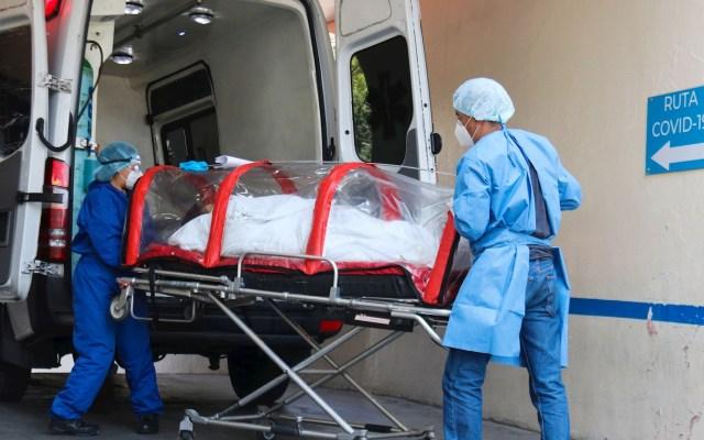 Extranjero con cepa británica de COVID-19 en México se encuentra intubado - Paciente infectado de la COVID-19 ingresa en cápsula COVID al área de Urgencias del Hospital General de Zona 1-A