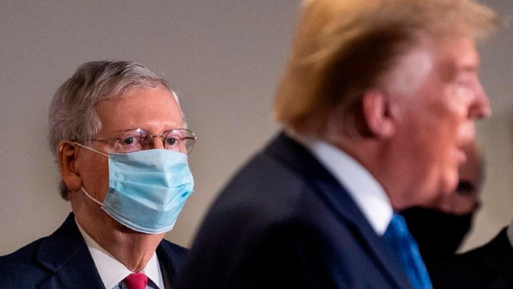 Donald Trump y el líder Mitch McConnell se miden para mostrar su influencia en el Partido Republicano - Donald Trump y el líder Mitch McConnell se miden para mostrar su influencia en el Partido Republicano. Foto EFE