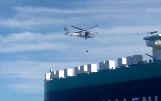 #Video Semar auxilia en BCS a capitán de buque que requería atención médica urgente - Evacuación de capitán de buque mercante en Cabo San Lucas. Captura de pantalla