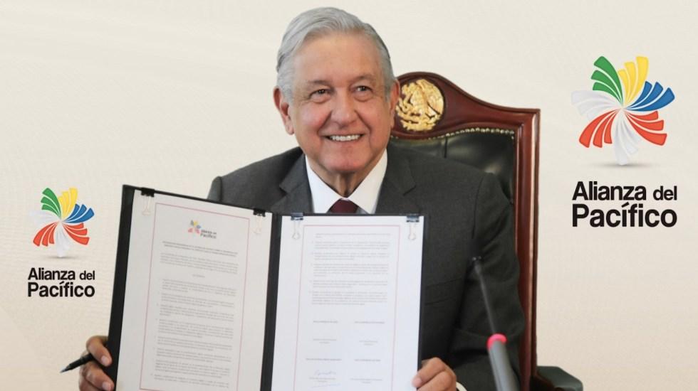 López Obrador firma tres convenios de colaboración como parte de la Cumbre de Presidentes de la Alianza del Pacífico - Foto de Twitter López Obrador