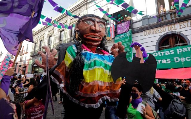 Feministas en Puebla exigen despenalizar el aborto y justicia en feminicidios - Foto de EFE
