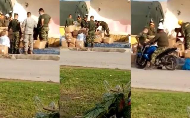 Militares colombianos roban ayudas humanitarias para isla destruida por huracán Iota - Foto de @JiggyOficial