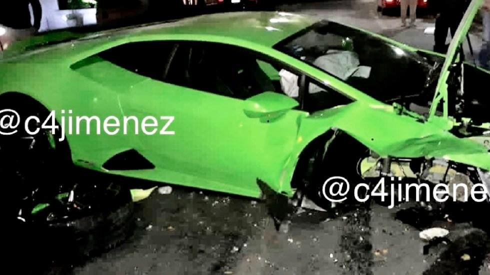 Otra persona reclama propiedad del Lamborghini accidentado en Polanco - Otra persona reclama propiedad del Lamborghini accidentado y abandonado en Polanco a principios de diciembre. Foto Twitter @c4jimenez