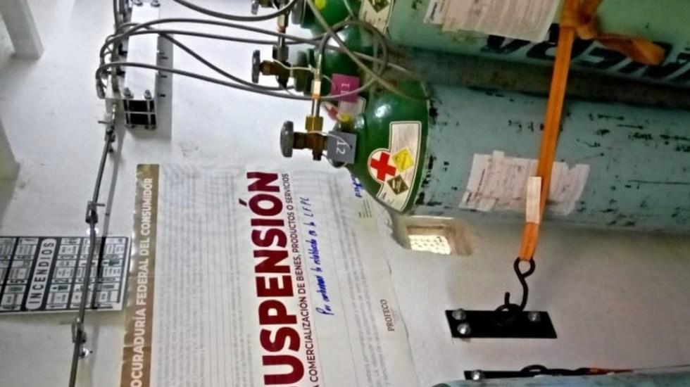 Suspende Profeco negocios por abusos en venta de oxígeno - Foto de Profeco