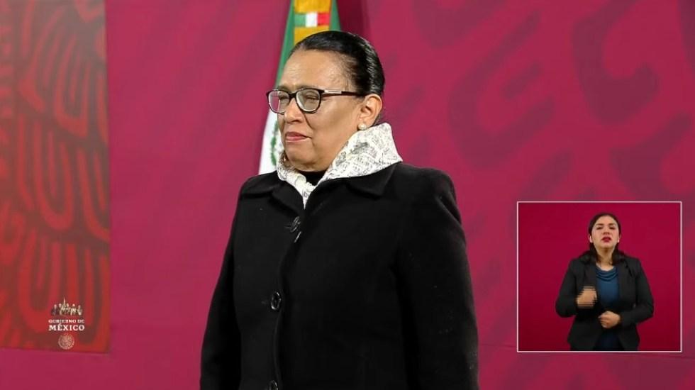 AMLO da la bienvenida a Rosa Icela Rodríguez como titular de SSPC - Foto de captura de pantalla