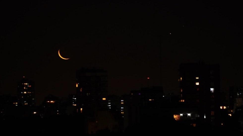 """#Fotos Así se observó la """"gran conjunción"""" de Júpiter y Saturno - Foto de @mguinzburg"""