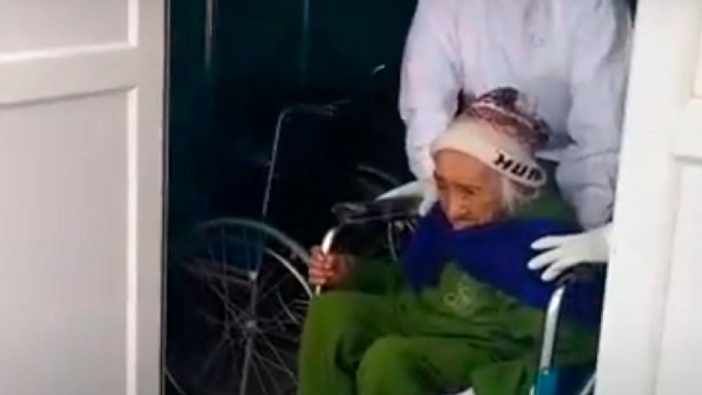 Mujer en Perú de 108 años de edad supera el COVID-19 - Una mujer en Perú de 108 años de edad supera el COVID-19. Foto Captura de pantalla