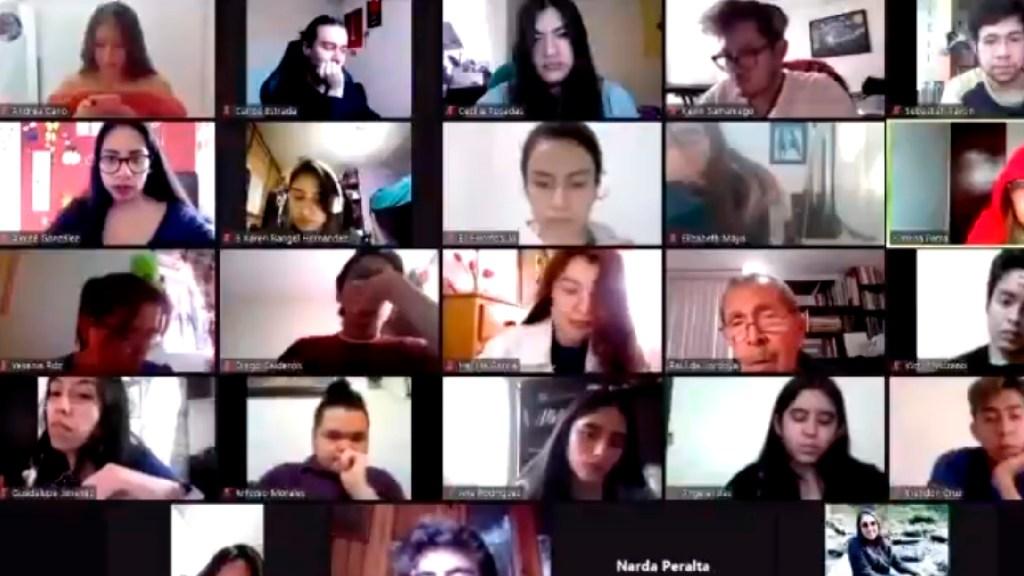 """#Video """"No soy empático ni hago milagros"""", profesor de la UNAM a alumna con COVID-19 - Acusan a profesor de la UNAM de no ser empático con alumna contagiada por COVID-19. Foto Captura de pantalla"""