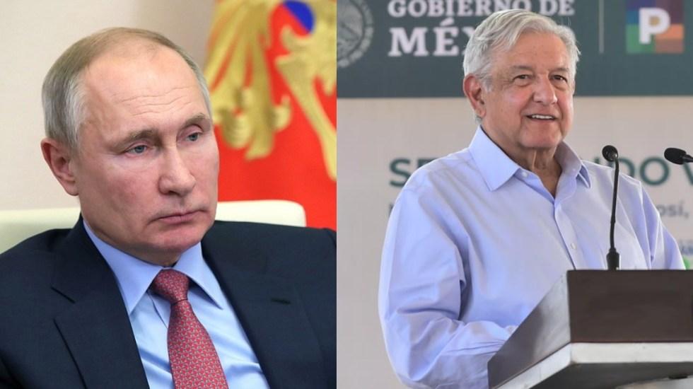 López Obrador conversará el lunes con Vladimir Putin - Fotos: Especial