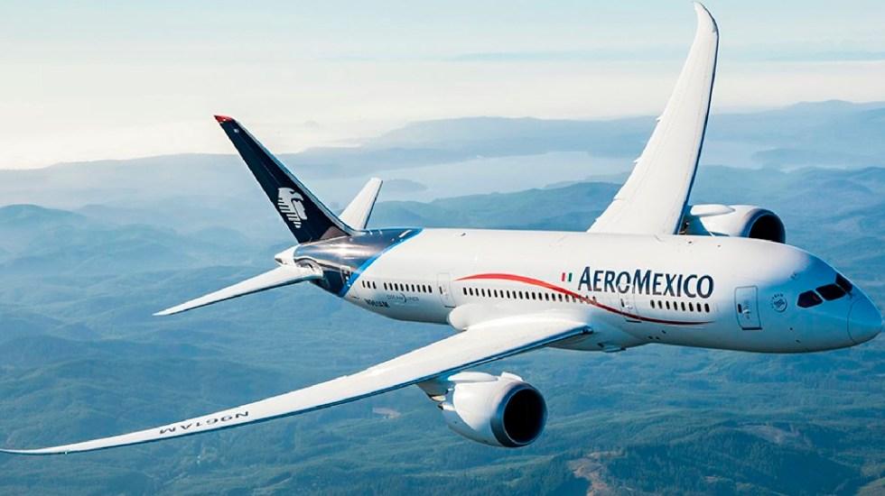 ASPA sostiene que no hay razón para terminar contrato colectivo con Aeroméxico - ASPA niega haber sido notificada por autoridad laboral para terminar CCT con Aeromexico. Foto Twitter @Aeromexico