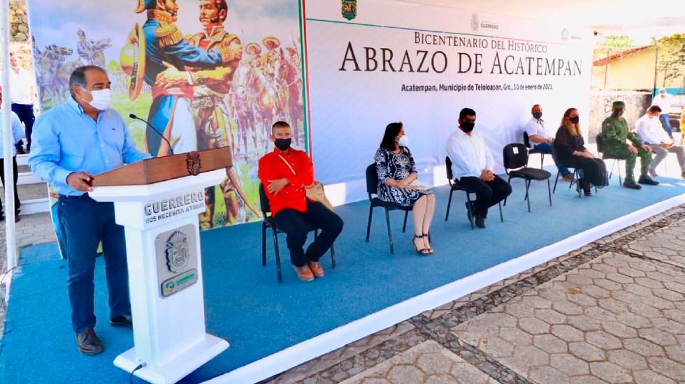 Inicia conmemoración de los 200 años de la Consumación de la Independencia en Guerrero - Astudillo Flores inicia actividades por Consumación de la Independencia en Guerrero. Foto Twitter @HectorAstudillo