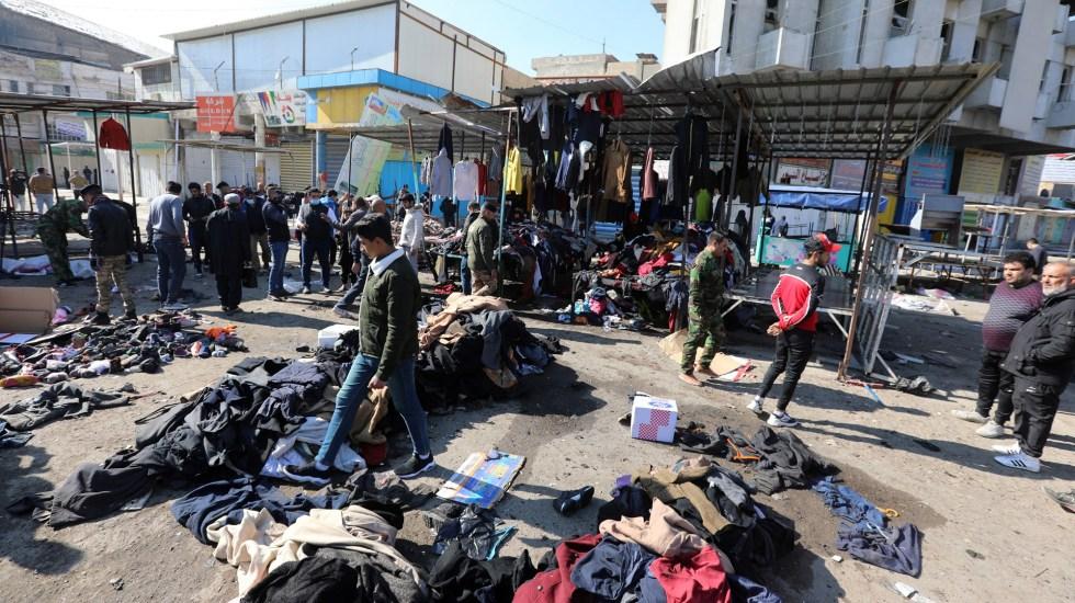 Ataque terrorista suicida en Bagdad deja 32 muertos - Ataque terrorista suicida en Bagdad. Foto de EFE