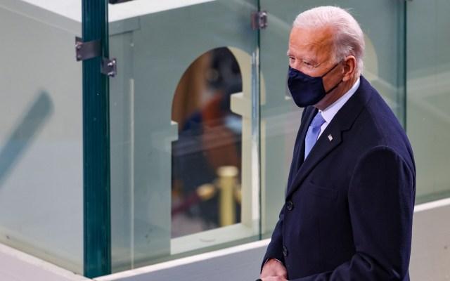 """Felicita Ebrard a Joe Biden por investidura; augura """"muy buena relación bilateral"""" - Joe Biden durante investidura como presidente de EE.UU. Foto de EFE"""