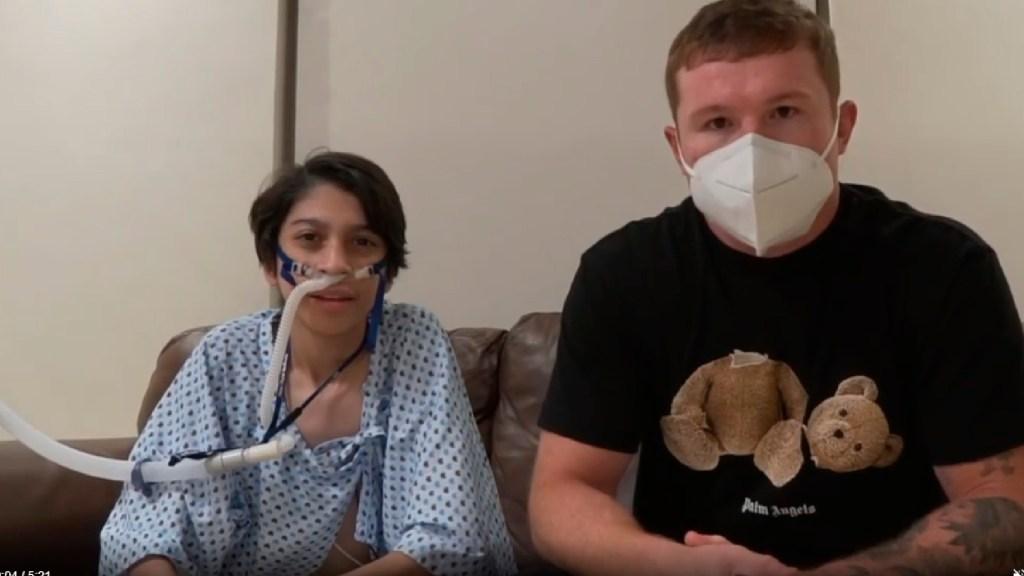 #Video 'Canelo' Álvarez ayudará a joven que requiere trasplante de pulmón - 'Canelo' Álvarez se suma a donativos para ayudar a joven que requiere un trasplante de pulmón. Foto Captura de pantalla