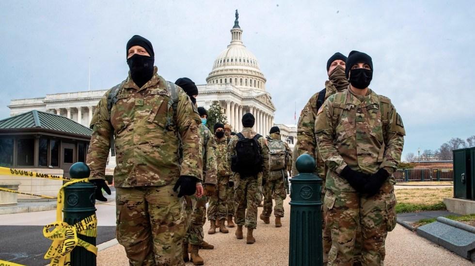 Guardia Nacional desplegará hasta 15 mil efectivos previo a la toma de posesión de Joe Biden - Foto de EFE