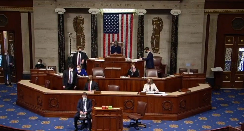 Cámara de Representantes apoya iniciar proceso de juicio político y destitución de Donald Trump - Captura de pantalla