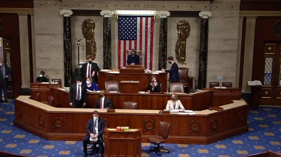 Cámara de Representantes apoya iniciar destitución de Trump - Captura de pantalla