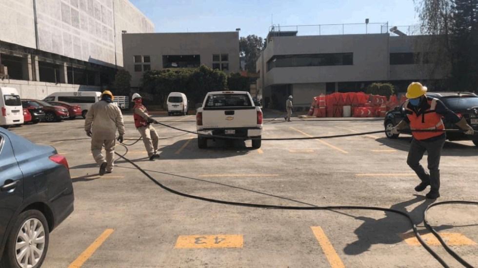 Por seguridad, la CFE interrumpió suministro en oficinas del Metro ante incendio - Foto de CFE