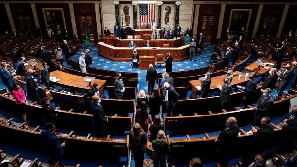 Congreso de Estados Unidos rechaza última objeción al resultado de las elecciones - Congreso de Estados Unidos. Foto de EFE/EPA/Erin Schaff / POOL.