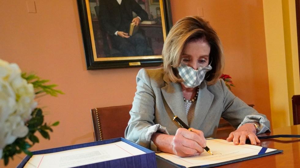 Trump, cerca de enfrentar un segundo juicio político en el Congreso - Demócratas abrirán juicio político a Trump por asalto al Capitolio. Foto Twitter @SpeakerPelosi