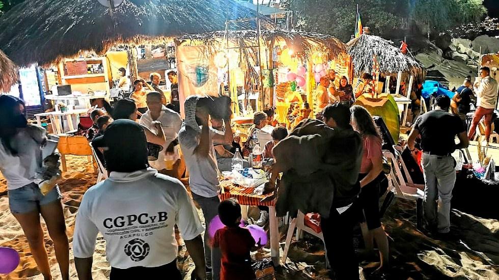 Desalojan a más de 800 personas que pretendían celebrar Año Nuevo en Acapulco - Desalojan a más de 800 personas que pretendían celebrar Año Nuevo en Acapulco. Foto Twitter @Acapulco_Gob