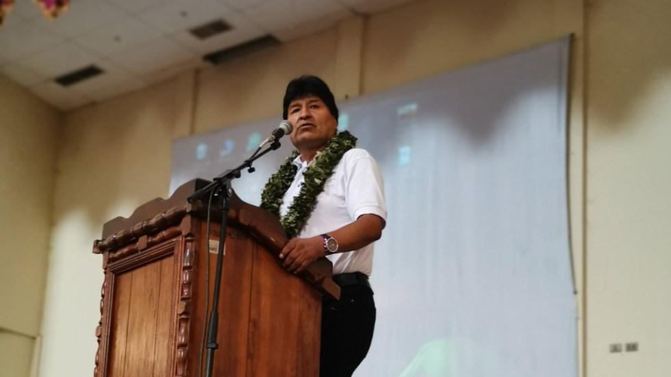Evo Morales da positivo a COVID-19; ya recibe atención médica - Evo Morales durante acto público en Cochabamba. Foto de @evoespueblo