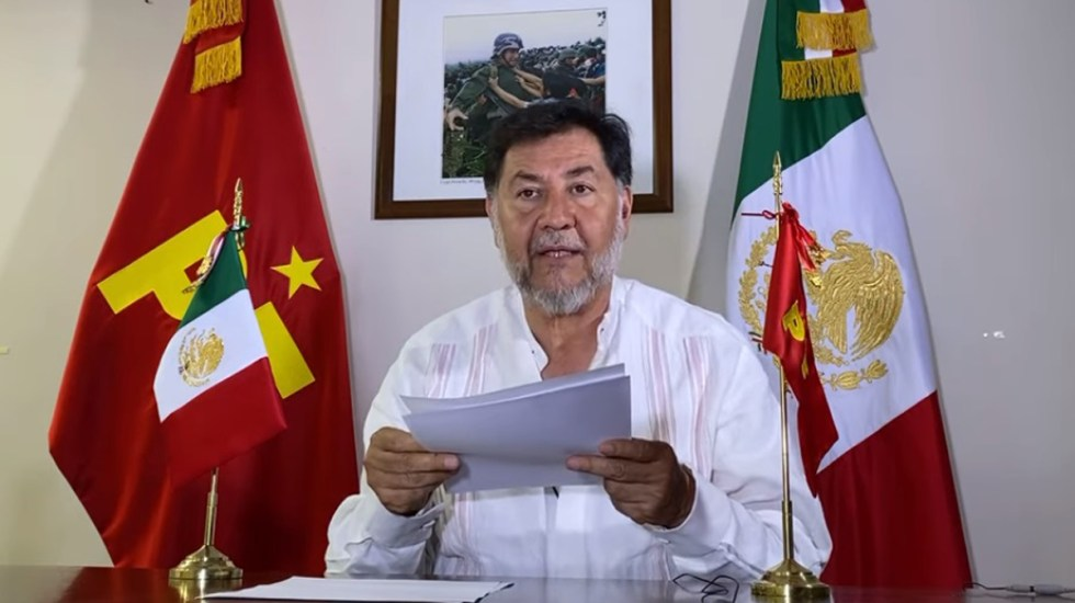 #Video Se disculpa Fernández Noroña con la diputada Adriana Dávila - Fernández Noroña se disculpa con Adriana Dávila. Captura de pantalla