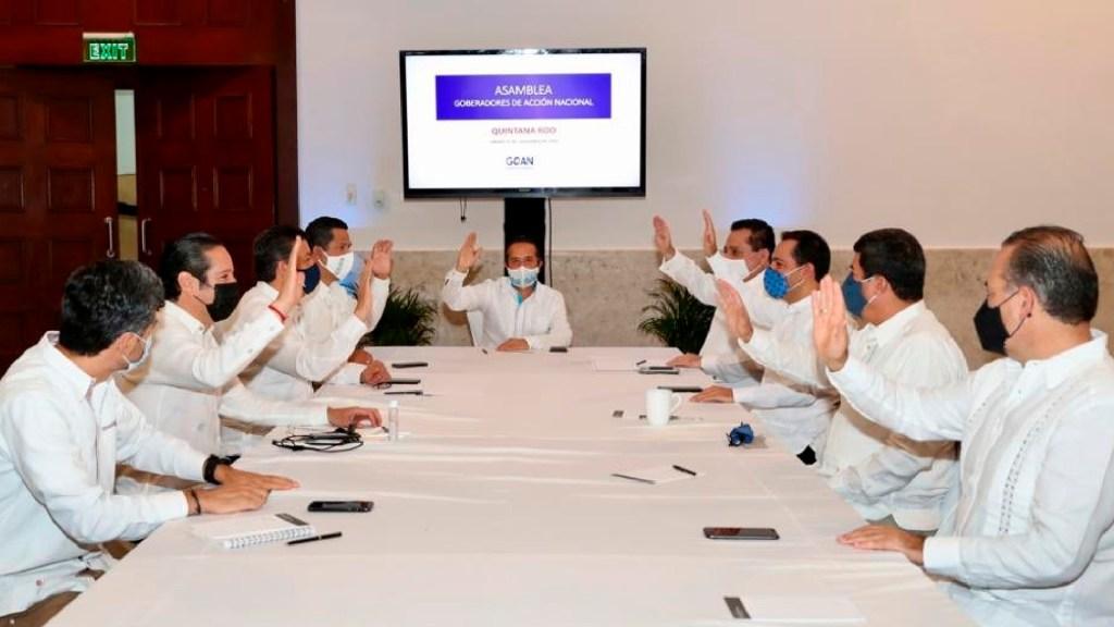 Gobernadores de Acción Nacional desean pronta recuperación al presidente López Obrador - Gobernadores de Acción Nacional desean pronta recuperación al presidente López Obrador. Foto Twitter @GOAN_MX