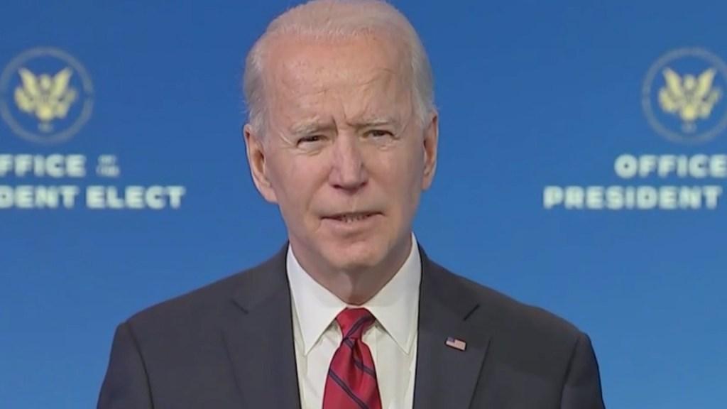 #Video Joe Biden presenta plan para aplicar 100 millones de vacunas contra el COVID-19 en los primeros 100 días de su administración - Captura de pantalla